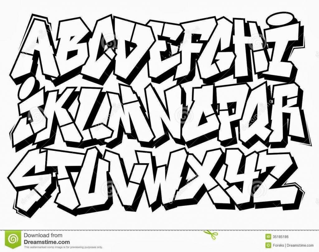 Graffiti Alphabet Pencil - Free Printable Graffiti Letters Az