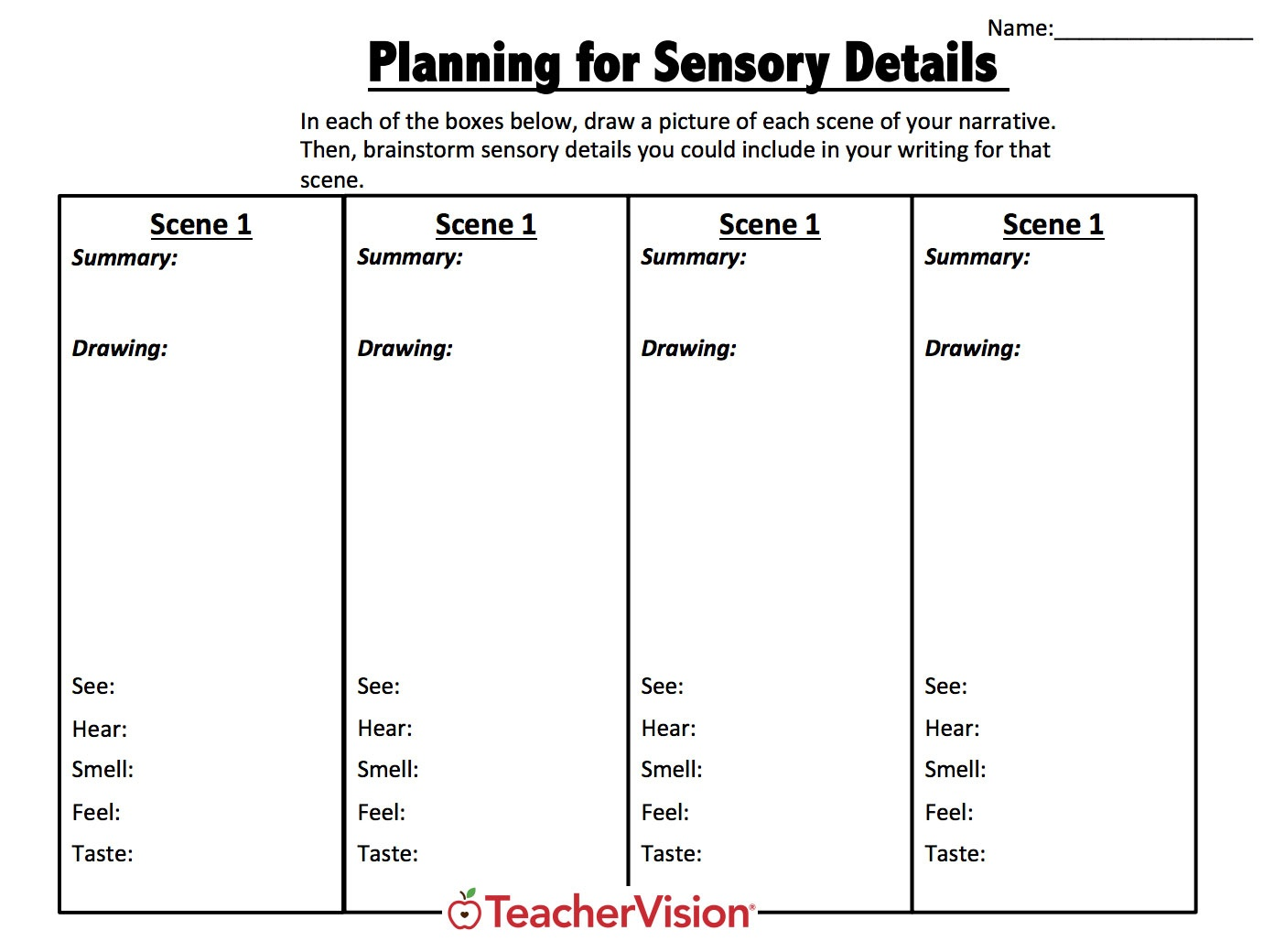 Graphic Organizers For Teachers Grades (K-12) - Teachervision - Free Printable Main Idea Graphic Organizer