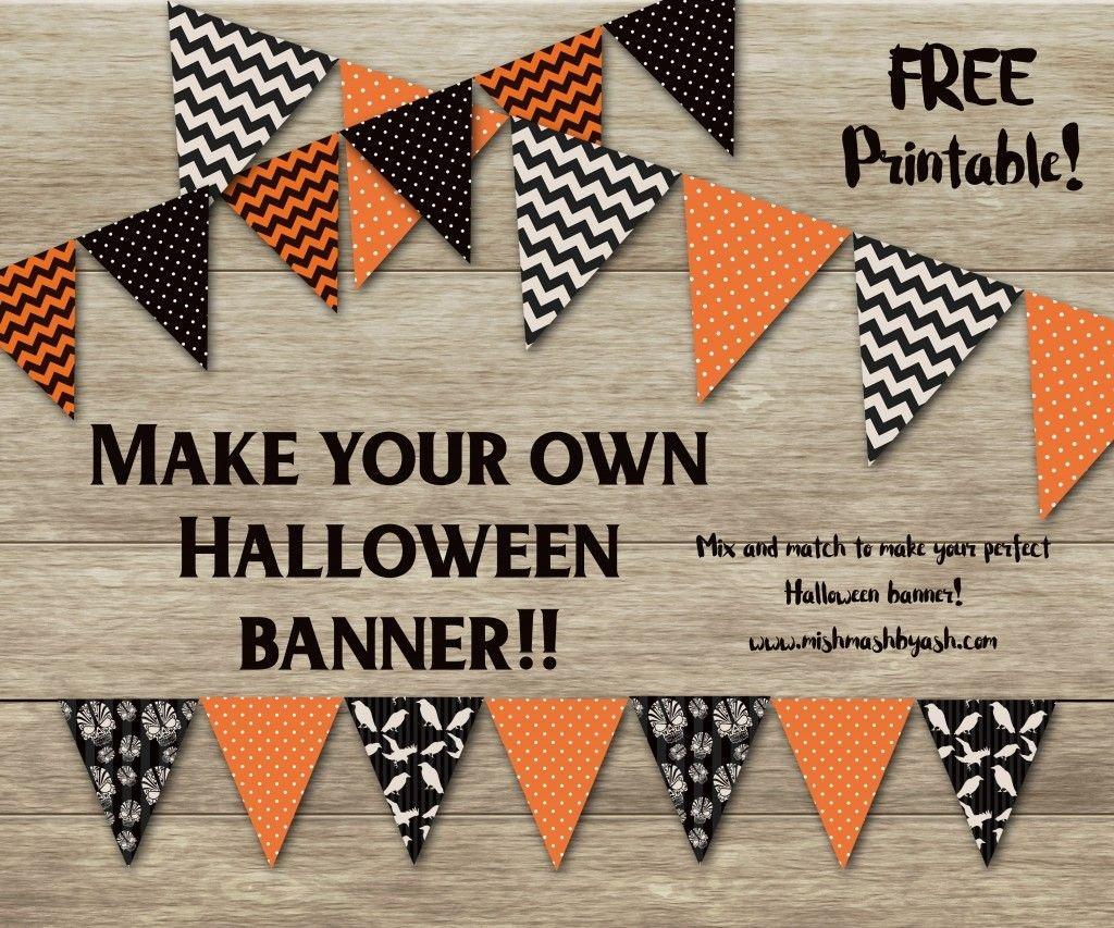 Halloween Banner, Free Halloween Printable, Printable Halloween - Free Printable Halloween Banner