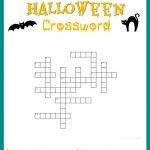 Halloween Crossword Puzzle Free Printable   Halloween Crossword Printable Free