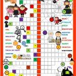 Halloween Crossword Puzzle Worksheet   Free Esl Printable Worksheets   Halloween Crossword Printable Free