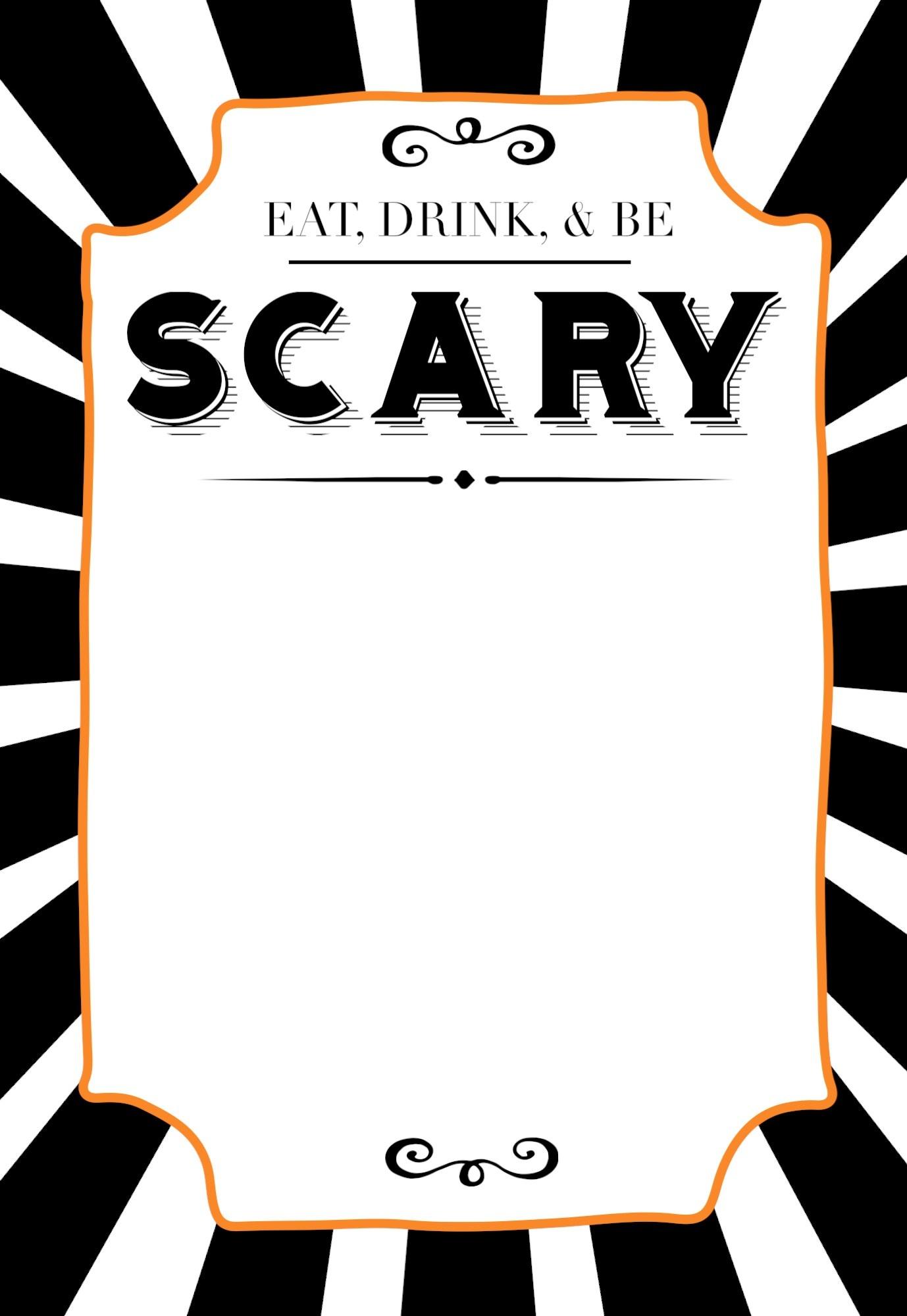 Halloween Invitations Free Printable Template - Paper Trail Design - Free Halloween Birthday Invitation Templates Printable