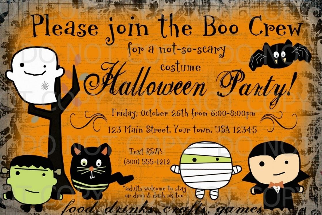 Halloween Party Invitation Templates Free - Tutlin.psstech.co - Free Printable Halloween Birthday Party Invitations