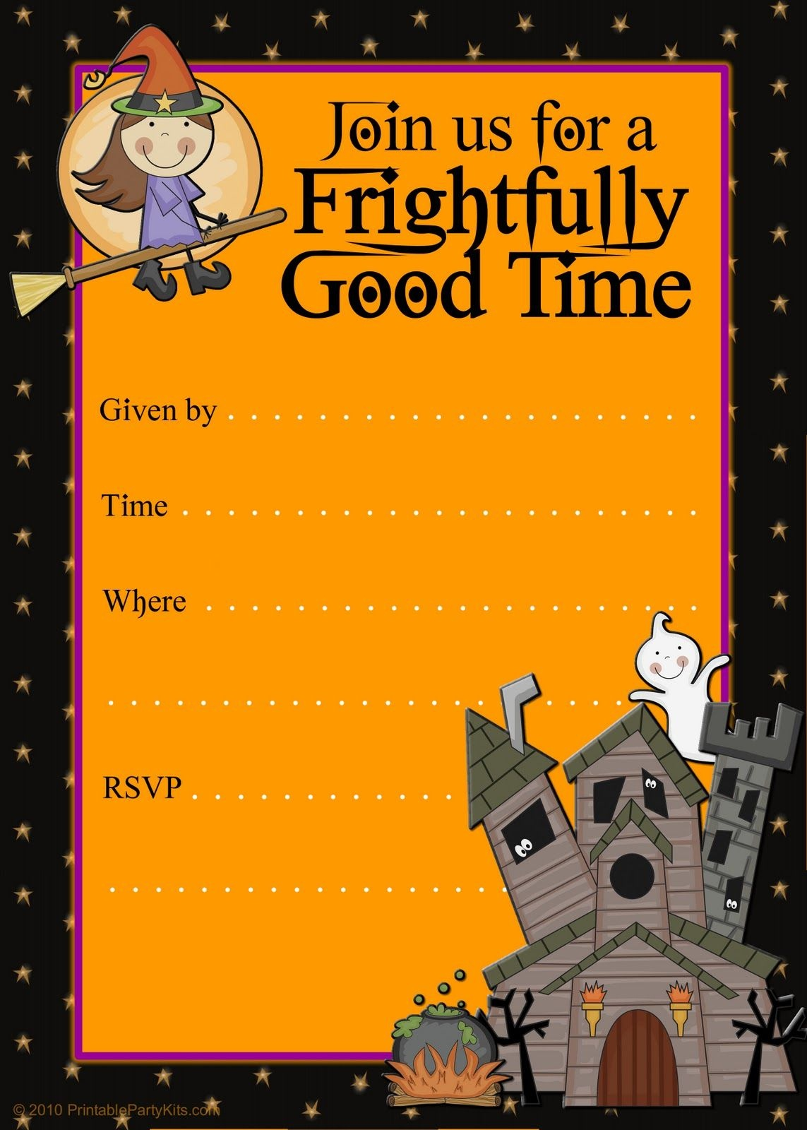 Halloween Party Invitations   Halloween Party Invitation Templates - Free Halloween Birthday Invitation Templates Printable