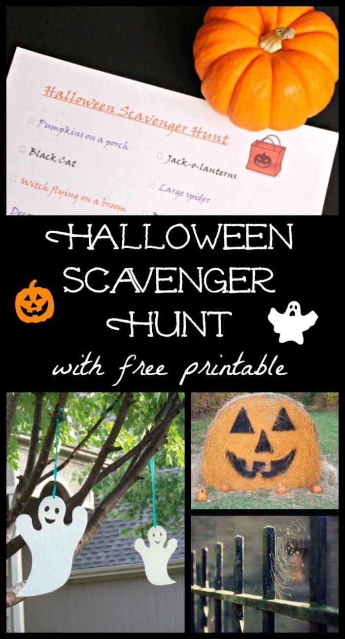 Halloween Scavenger Hunt With Free Printable   After School - Free Printable Halloween Scavenger Hunt