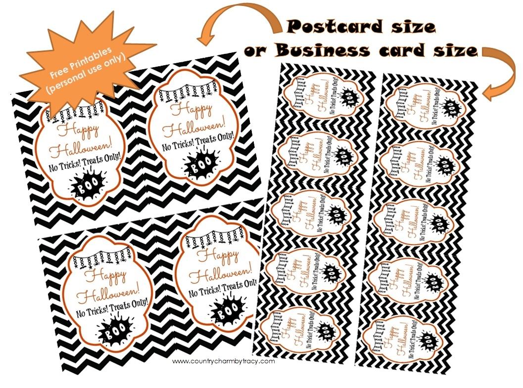 Halloween Tags {Free Printable} ~ {Country Charm}Tracy - Printable Halloween Cards To Color For Free