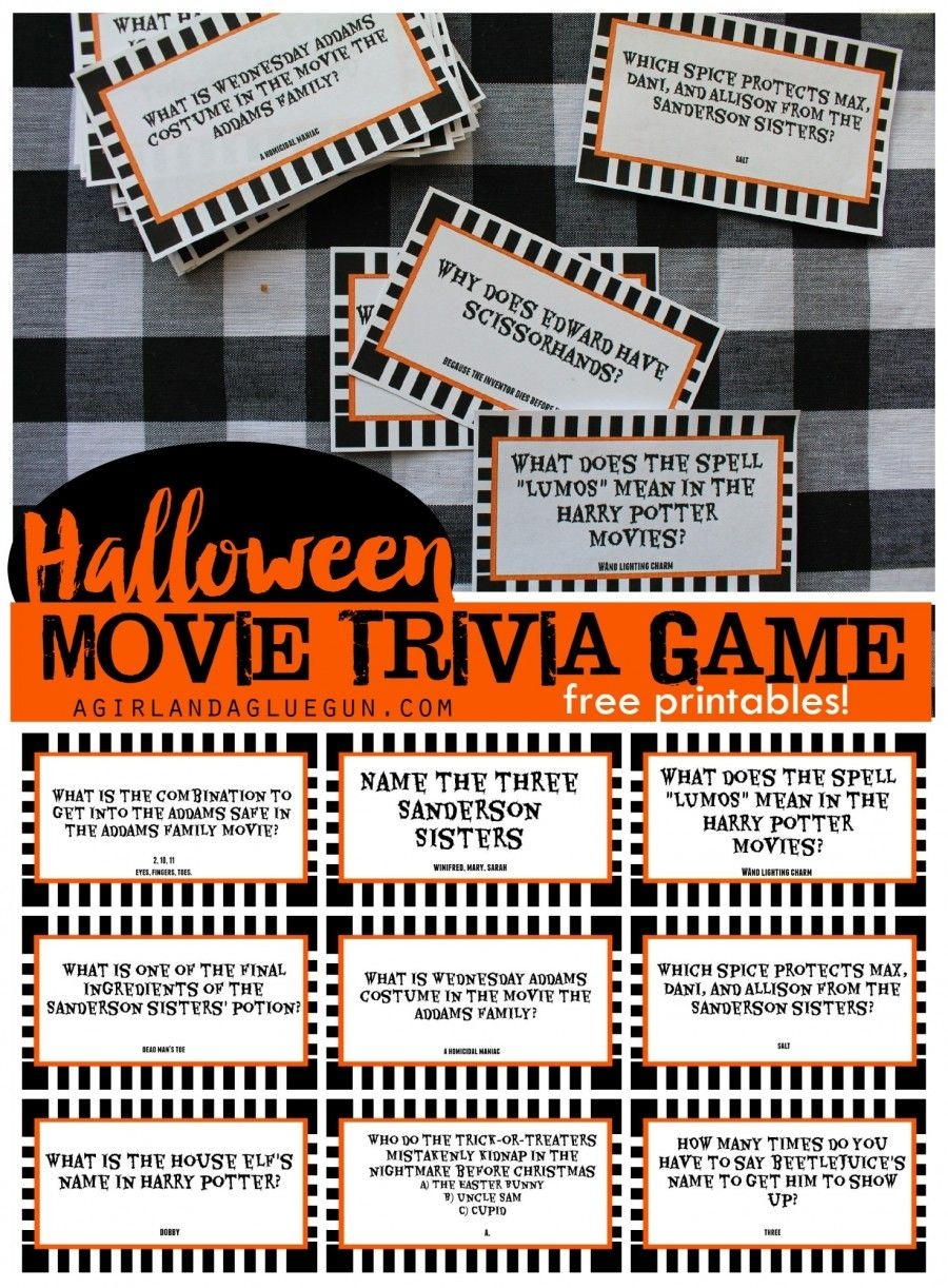Halloween Trivia Game With Free Printables-Kids Version And Adult - Free Printable Halloween Quiz
