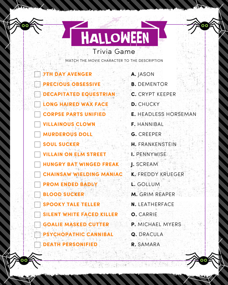 Halloween Trivia Print | Halloween | Halloween, Halloween Facts - Free Printable Halloween Quiz