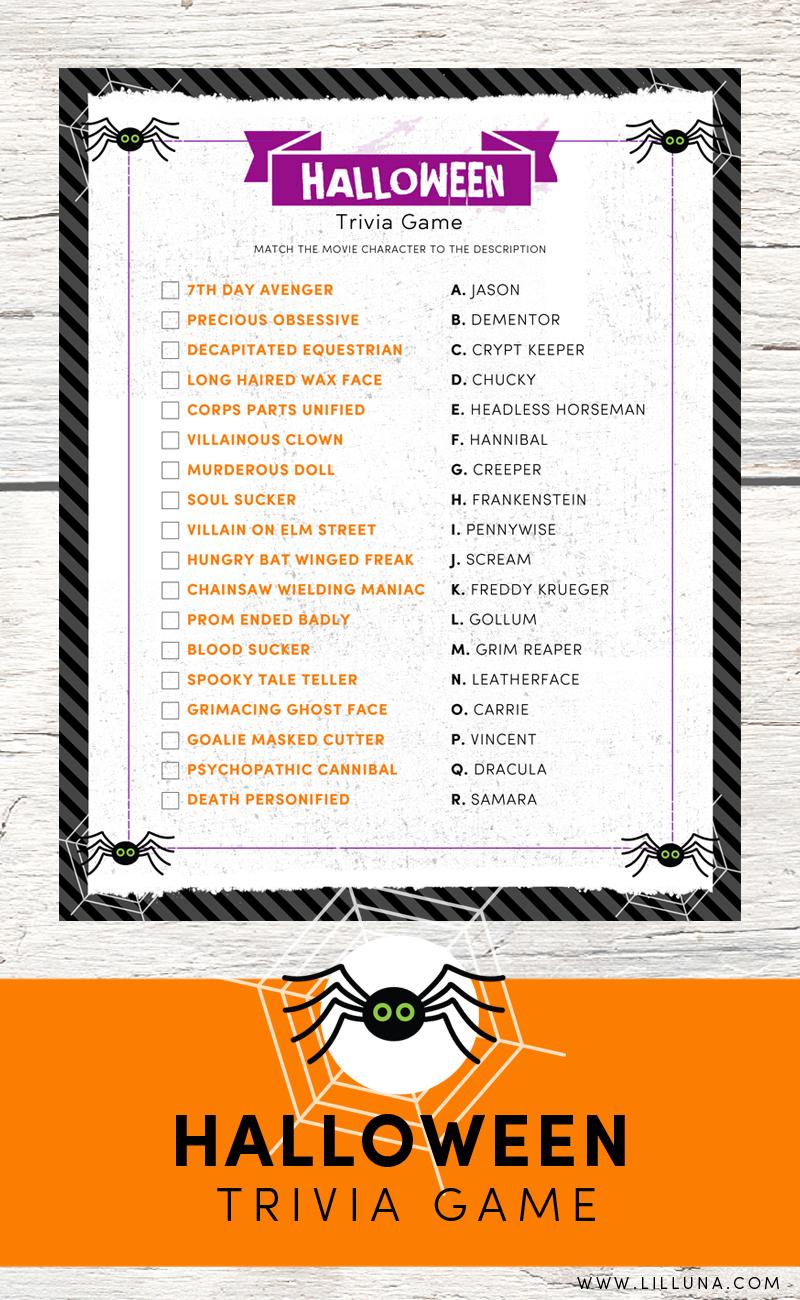 Halloween Trivia Print | Holidays - Halloween & Fall Wreaths - Free Printable Halloween Quiz