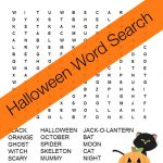 Halloween Word Search Free Printable | Happy Birthday Card   Free Printable Halloween Puzzles