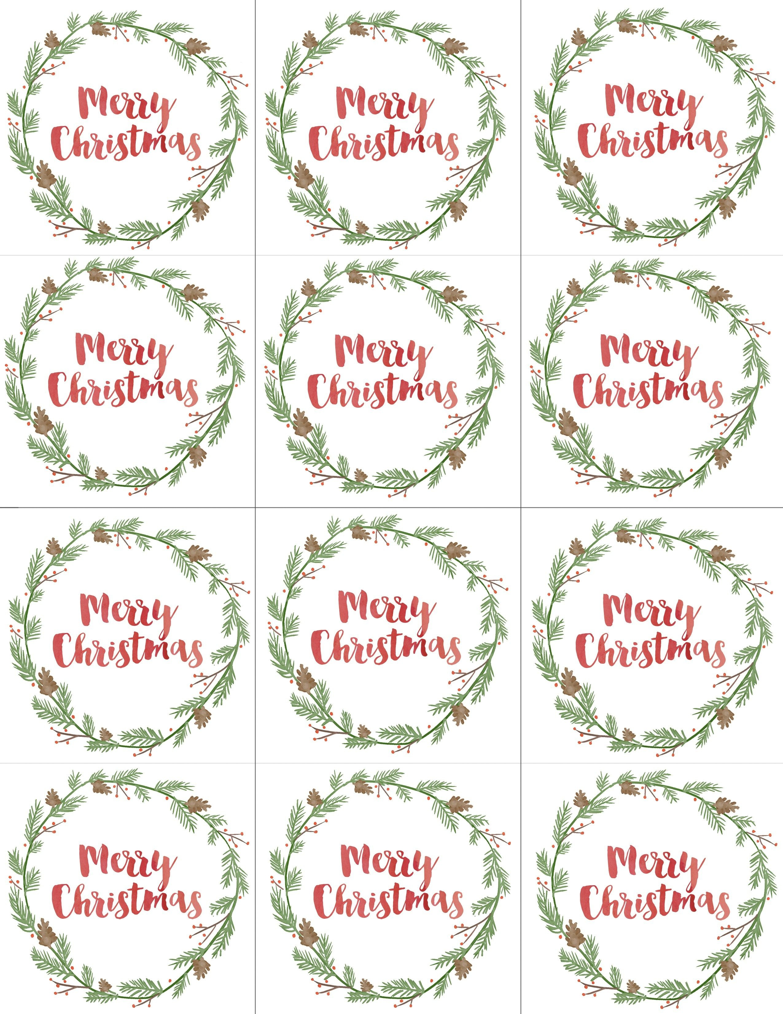 Hand Painted Gift Tags Free Printable | Christmas | Christmas Gift - Free Printable Holiday Gift Labels