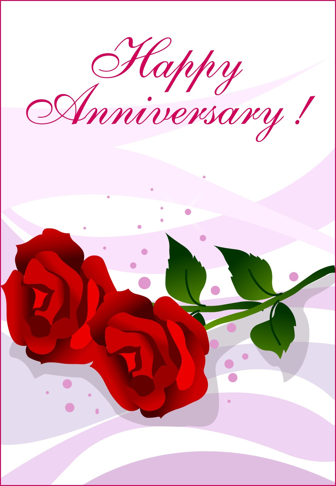 Happy Anniversary Roses - Happy Anniversary Card (Free) | Greetings - Printable Cards Free Anniversary