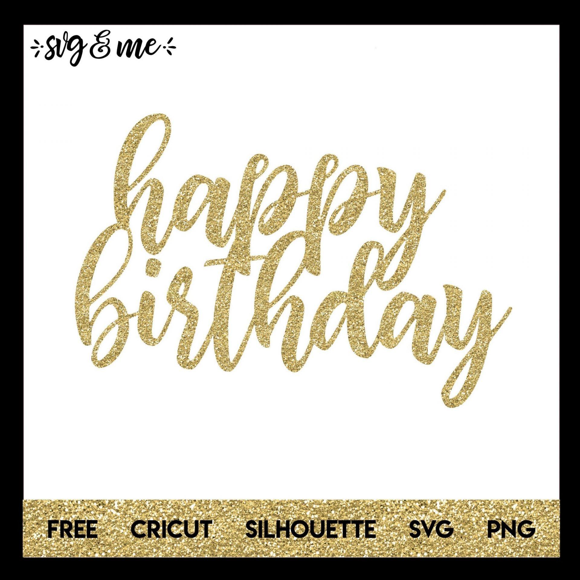 Happy Birthday Cake Topper - Svg & Me - Free Printable Happy Birthday Cake Topper