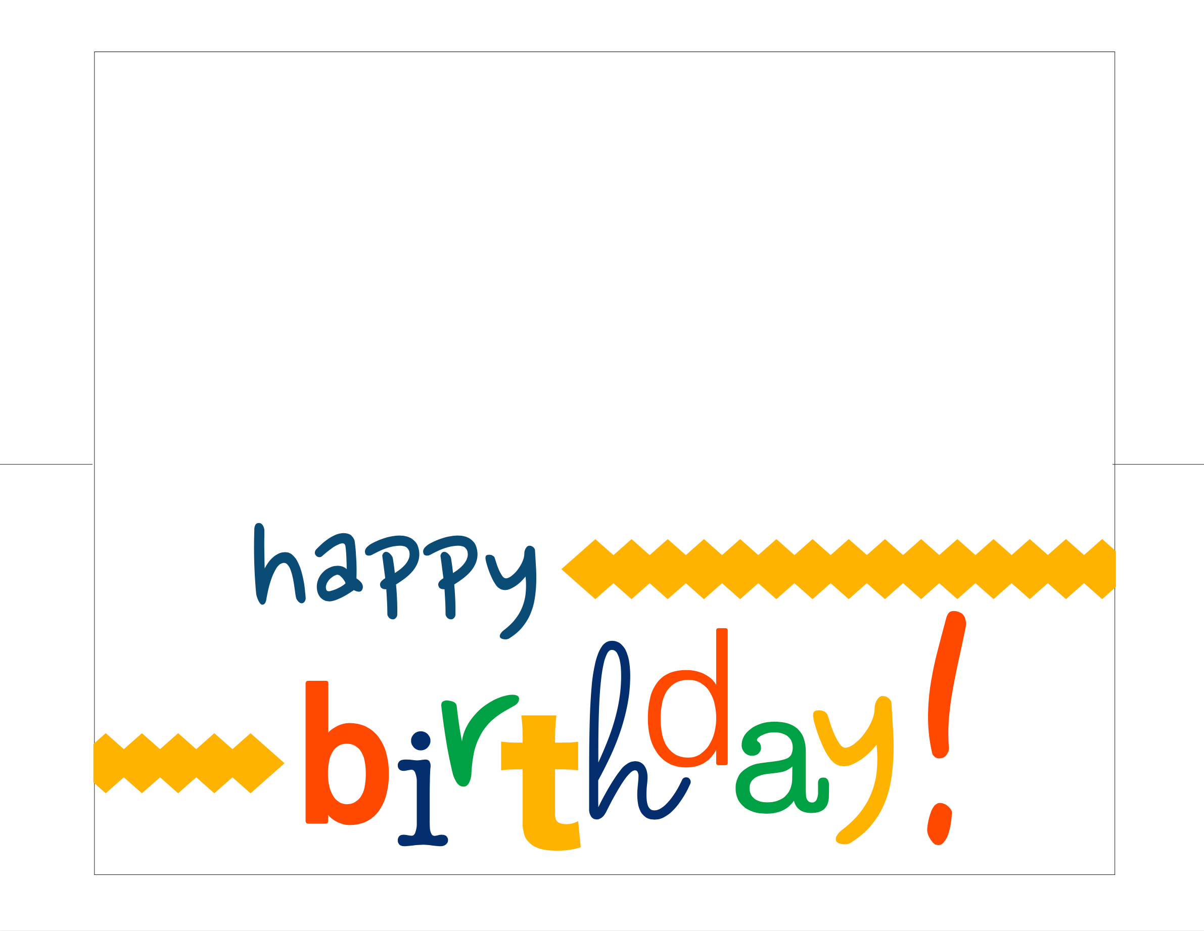 Happy Birthday Card Free Printable - How Do The Jones Do It - Free Printable Happy Birthday Cards