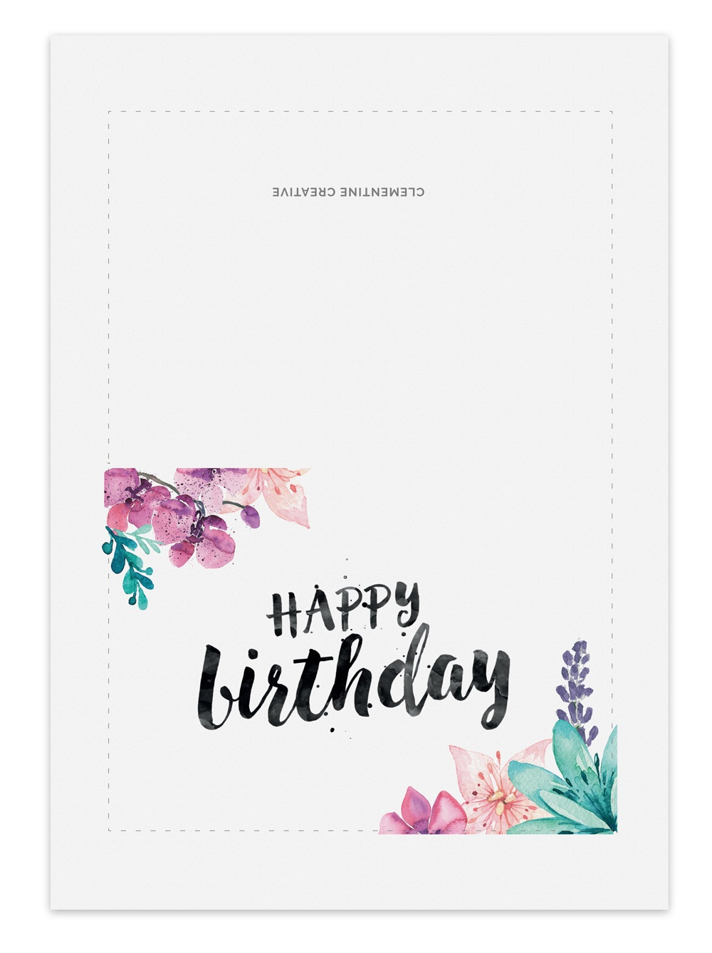 Happy Birthday Cards To Print Free — Birthday Invitation Examples - Free Printable Birthday Cards For Her