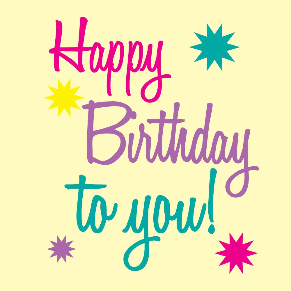 Happy Birthday Printable Art   Free Birthday Graphics Happy Birthday - Birthday Clipart Free Printable