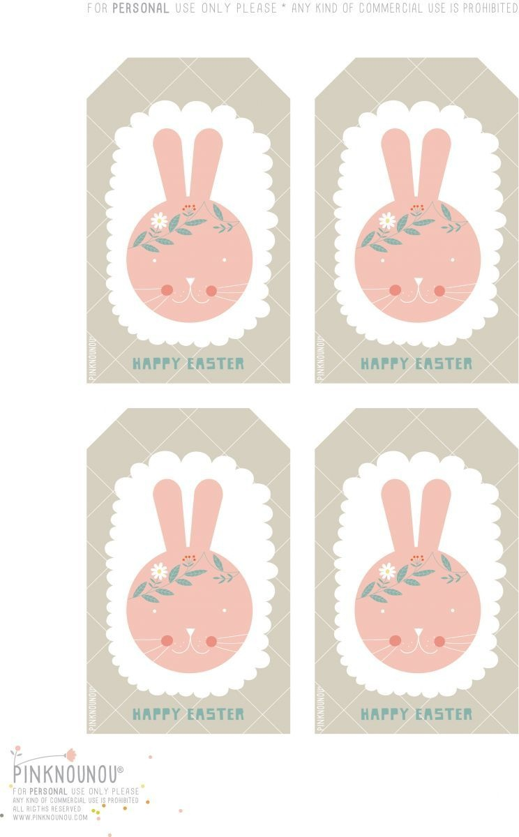 Happy Easter Free Printable Bunny Tags | Cute Printables | Easter - Free Printable Easter Tags