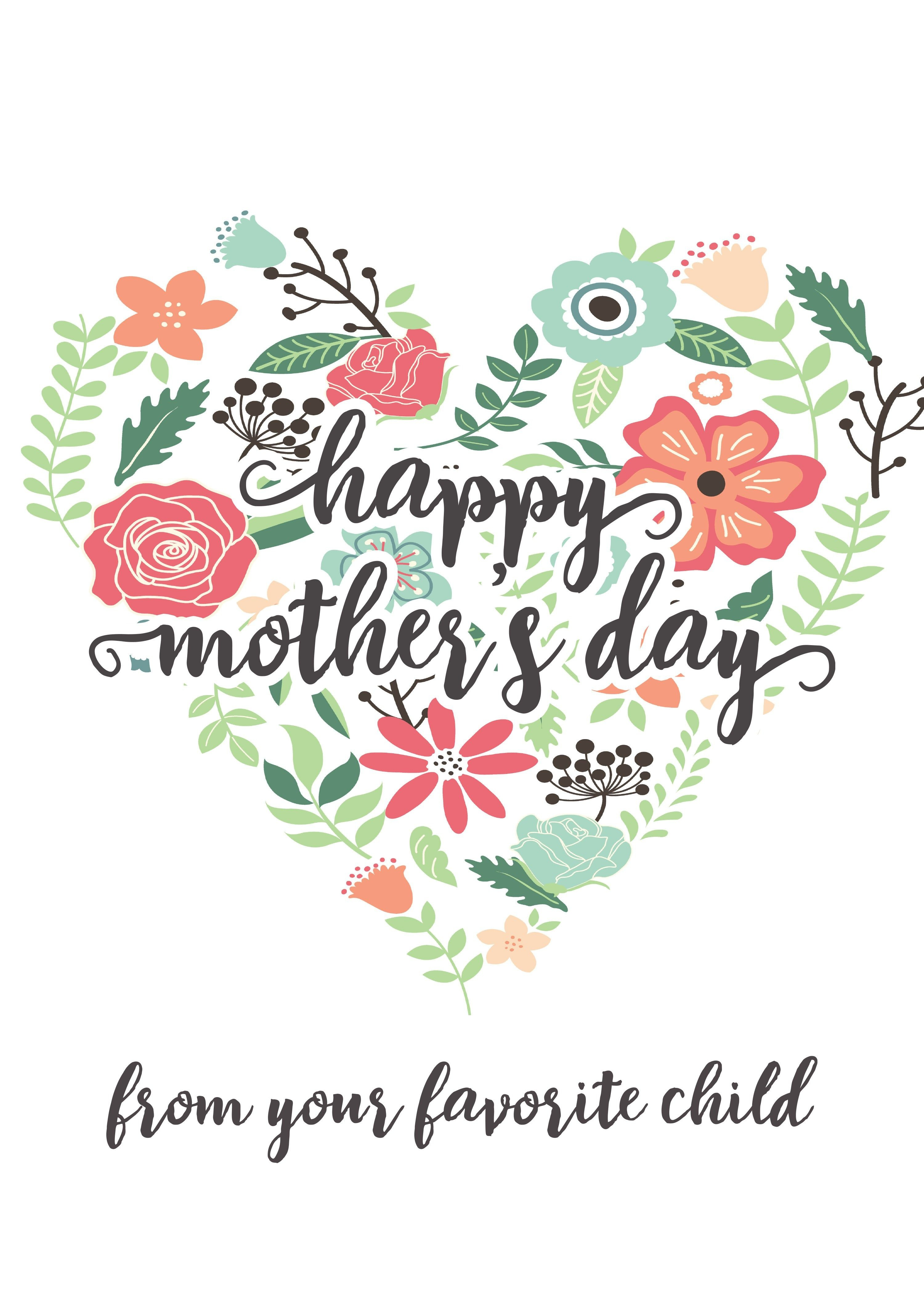 Happy Mothers Day Messages Free Printable Mothers Day Cards - Make Mother Day Card Online Free Printable