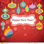 Happy New Year Card Stock Vector. Illustration Of Banner   35301368   Free Printable Happy New Year Cards