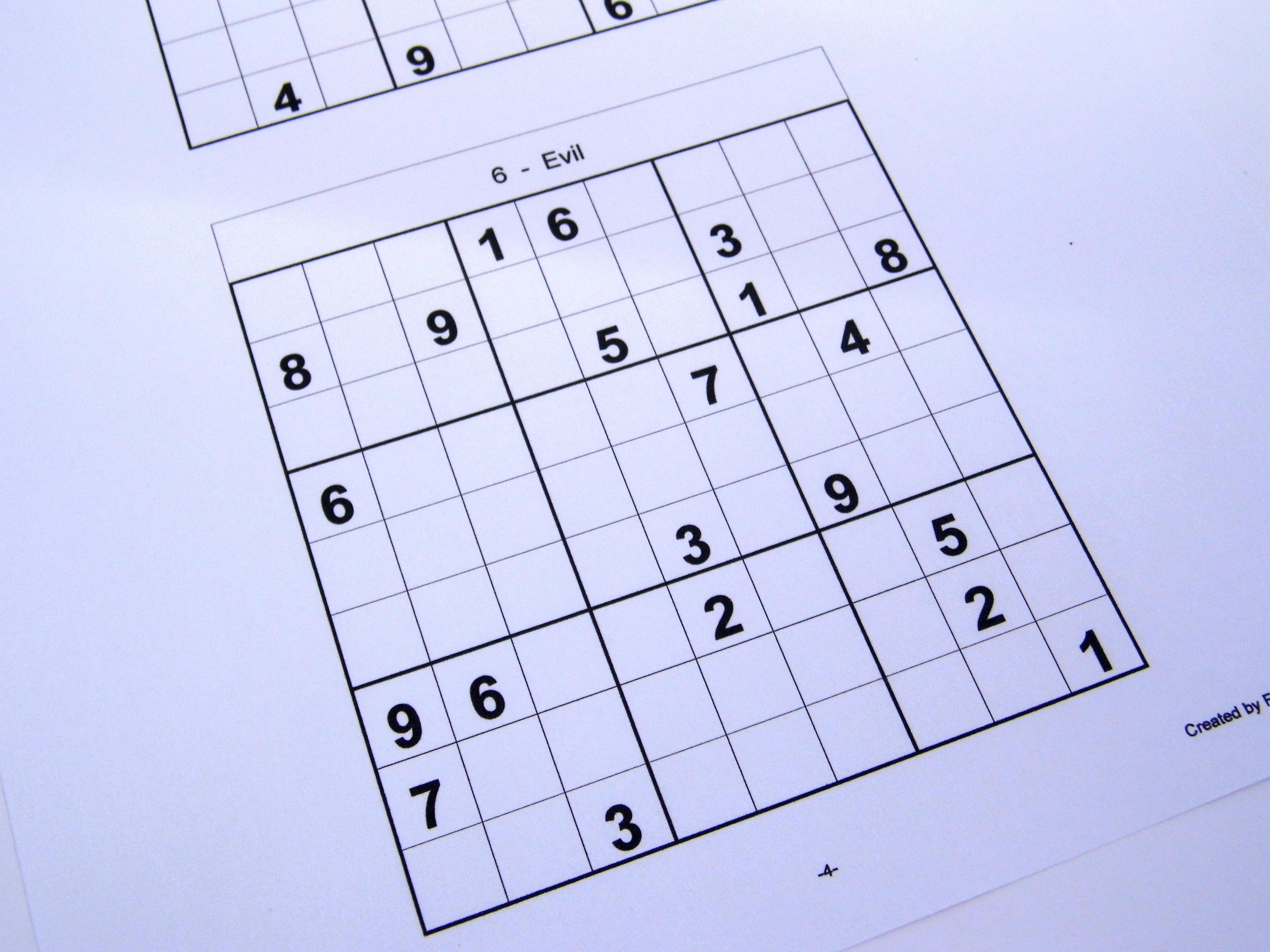 Hard Printable Sudoku Puzzles 6 Per Page – Book 1 – Free Sudoku Puzzles - Free Printable Sudoku Books