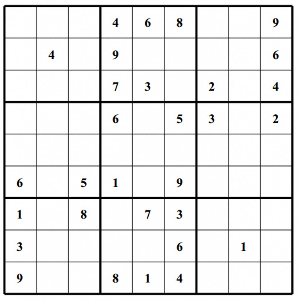 Hard Puzzle | Free Sudoku Puzzles | Printable Sudoku 4 Per Page - Free Printable Sudoku Puzzles