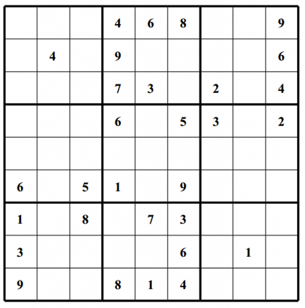 Hard Puzzle | Free Sudoku Puzzles | Printable Sudoku 4 Per Page - Free Printable Sudoku