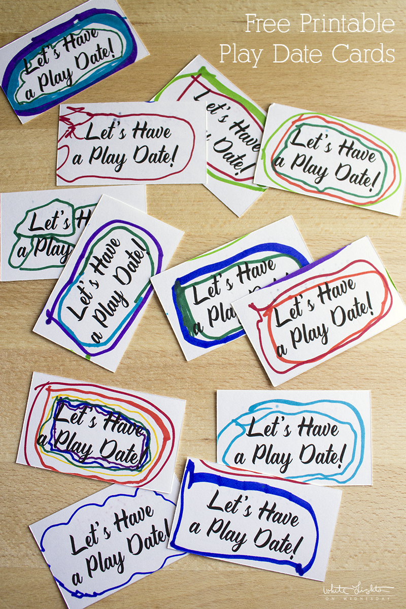 Have A Kid That Always Misses His Friends When They're Not At School - Free Printable Play Date Cards