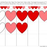 Heart Pattern Free Printable For Valentine's Day   Free Printable Valentine Heart Patterns