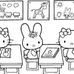 Hello Kitty Back To School Coloring Page | Free Printable Coloring Pages   Free Printable First Day Of School Coloring Pages