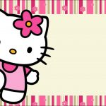 Hello Kitty With Flowers: Free Printable Invitations.   Oh My Fiesta   Hello Kitty Labels Printable Free