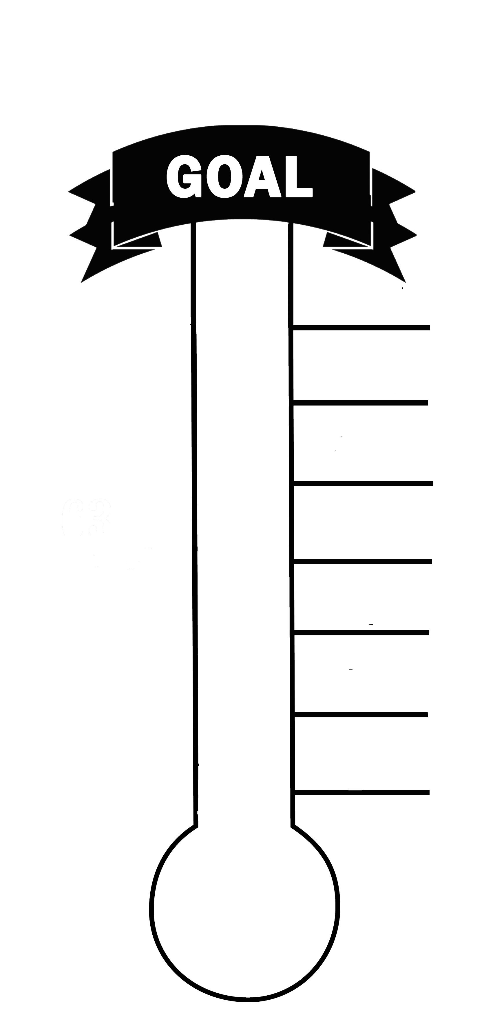 Here's A Great Way To Encourage Your Church Or Small Group! Print - Free Printable Thermometer Goal Chart
