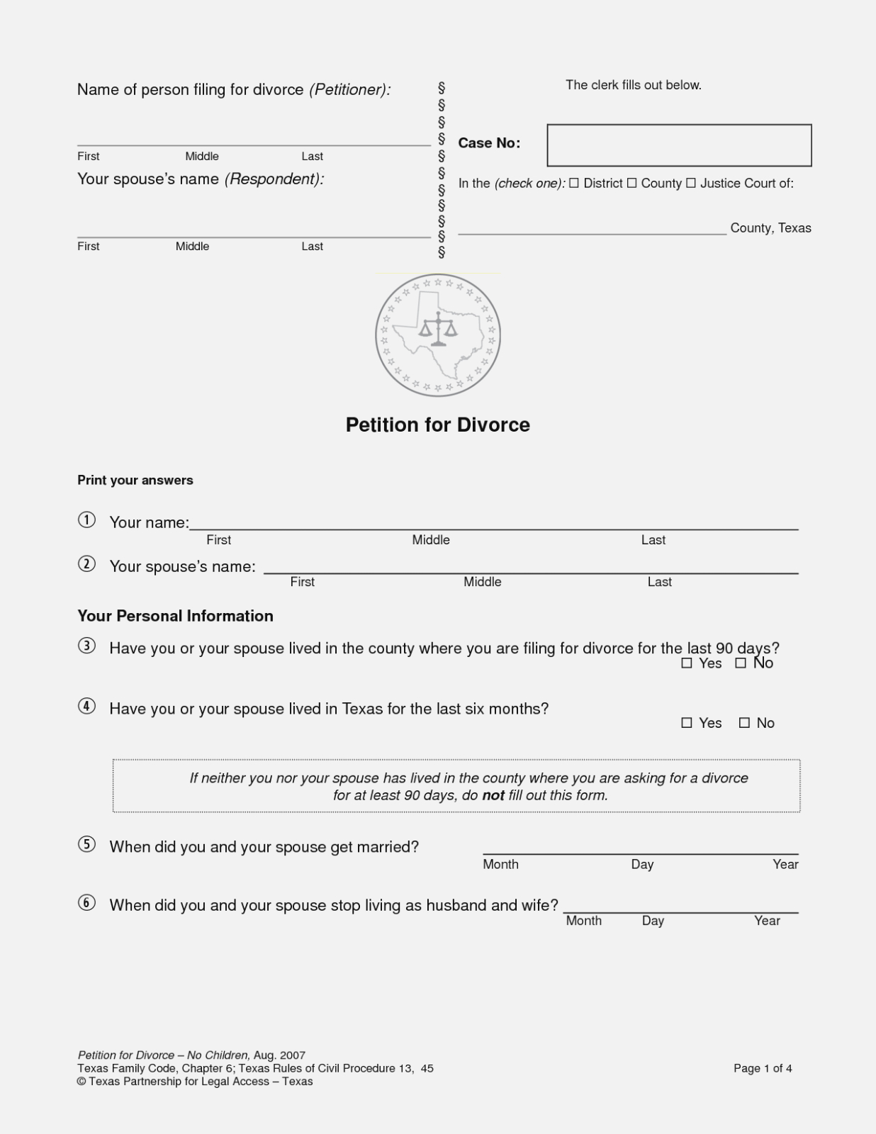 Here's Why You Should Attend Free Do It | Form Information - Free Printable Divorce Papers Nevada