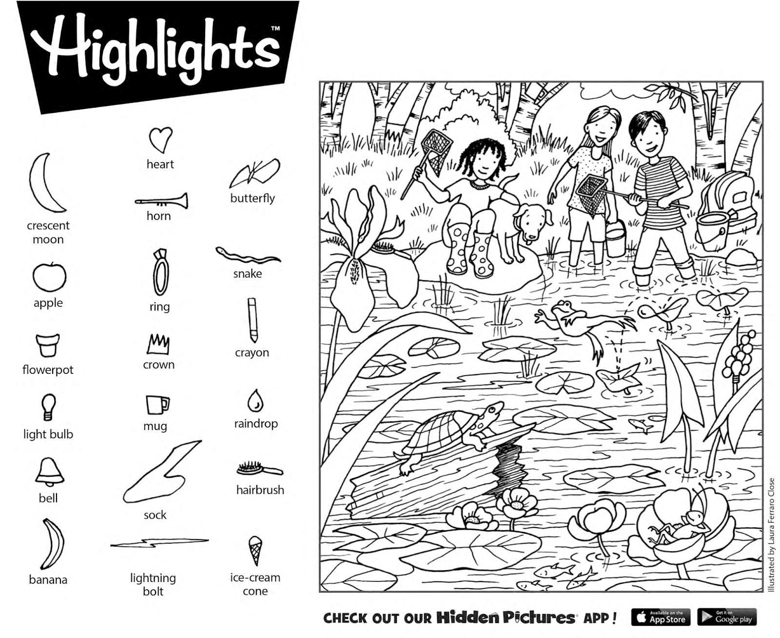 Hidden Pictures 2019 - Tipss Und Vorlagen - Free Printable Hidden Pictures