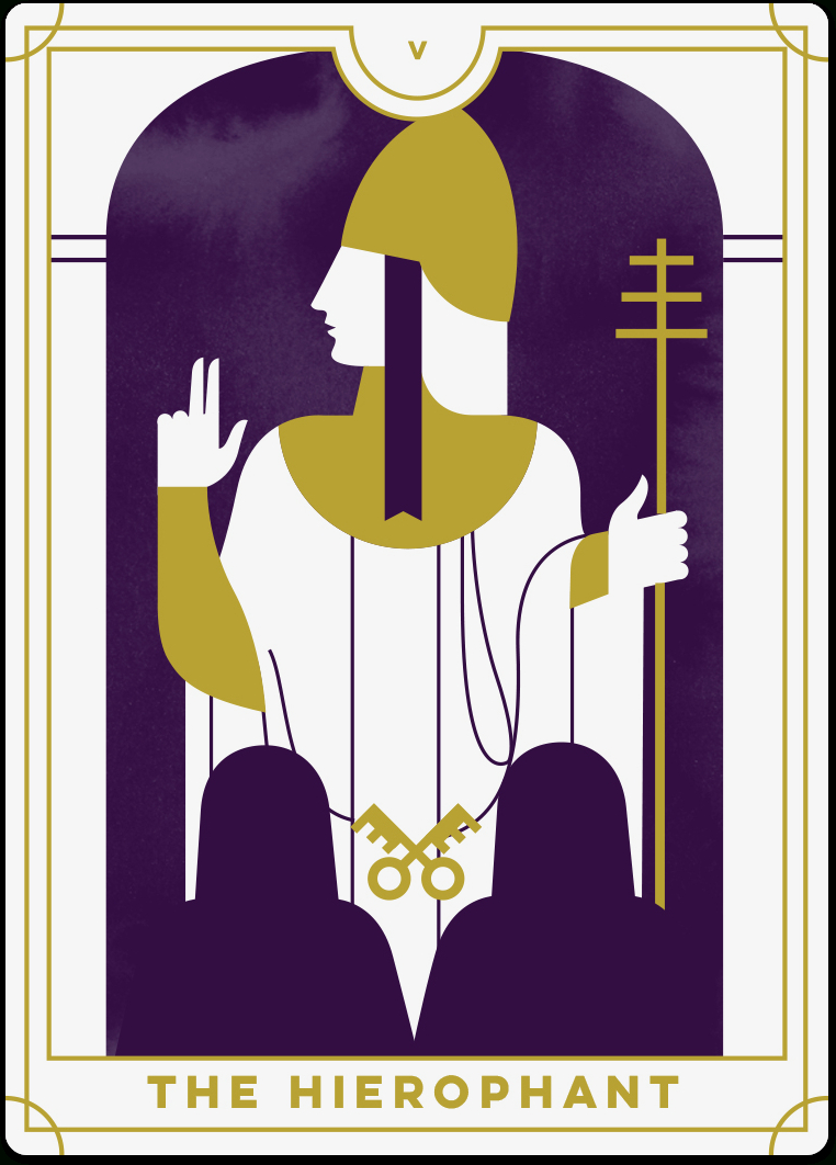 Hierophant Tarot Card Meanings | Biddy Tarot - Free Printable Tarot Cards