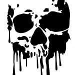 High Detail Dripping Skull Airbrush Stencil   Free Uk Postage For   Free Printable Airbrush Stencils