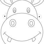 Hippo Mask Printable Coloring Page For Kids | Çizimler | Animal Mask   Giraffe Mask Template Printable Free