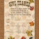 Holiday Party: Free Printable Autumn Free Printable Give Thanks   Free Printable Thanksgiving Invitation Templates