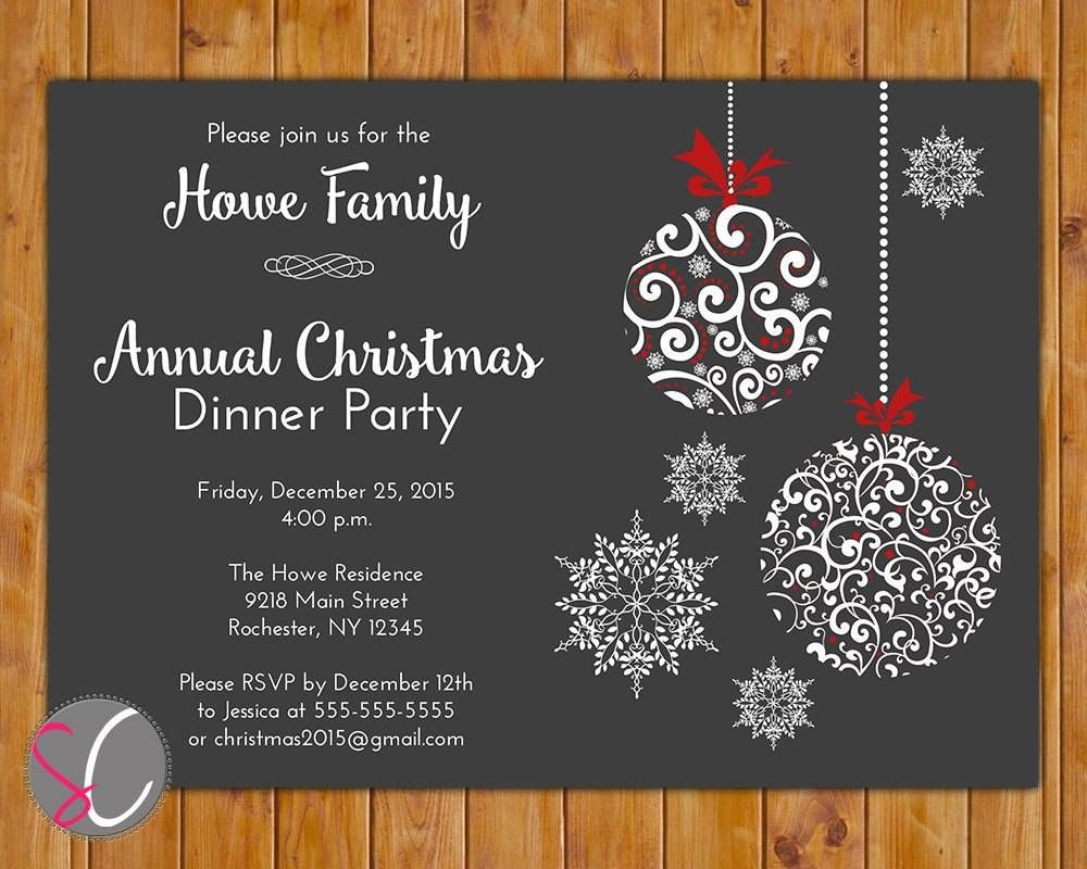 Holiday Party Invitations Free Templates | Christmas Crafts - Holiday Invitations Free Printable