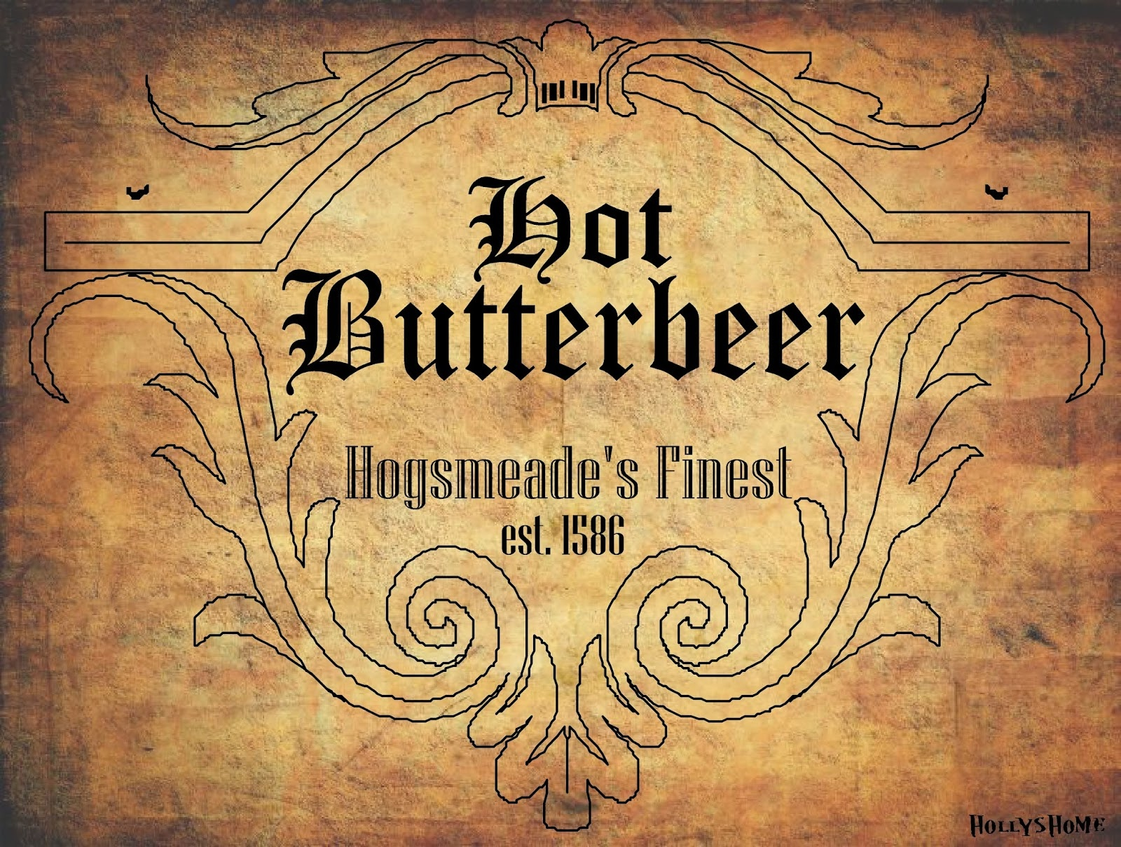 Hollyshome Family Life: Hot Butterbeer Recipe And Free Hot - Free Printable Butterbeer Labels