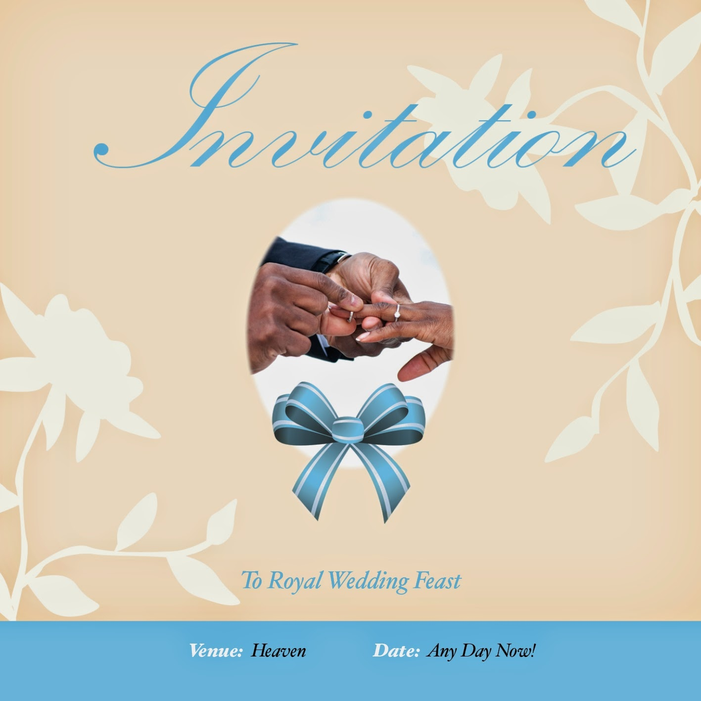 Home Printable Wedding Invitation Evangelism Tract | Freevangelism - Free Printable Tracts For Evangelism