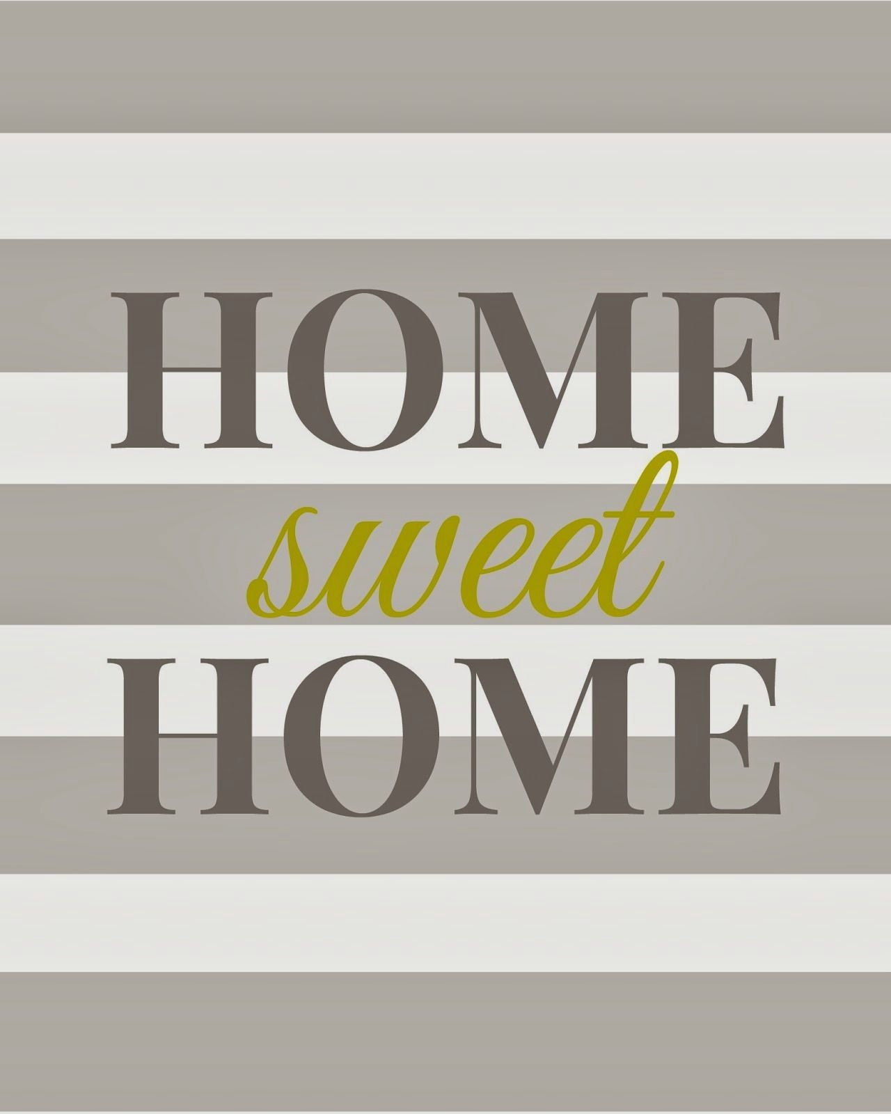 Home Sweet Home - Free Printable | Printables + Fonts | Home Decor - Home Sweet Home Free Printable