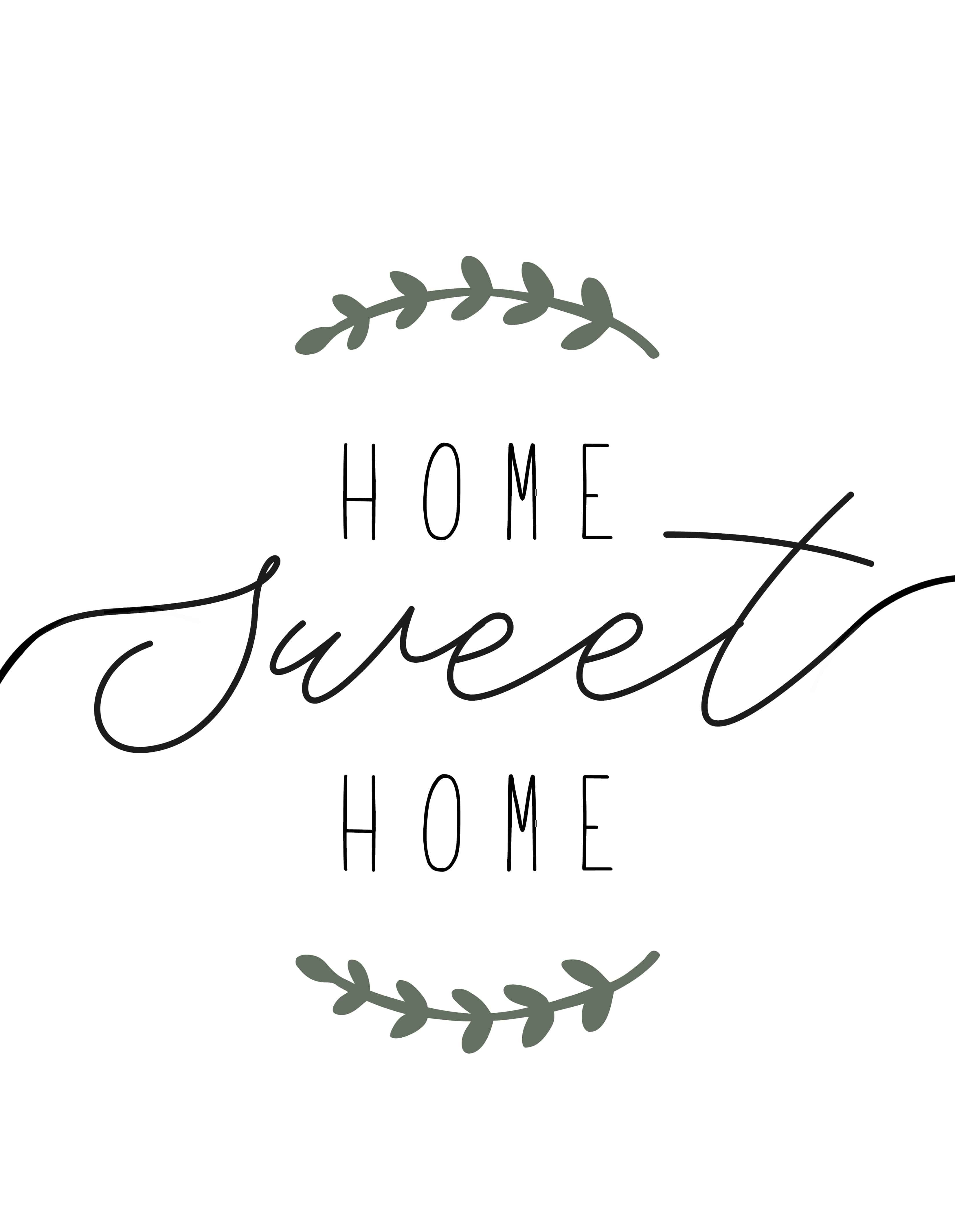"Home Sweet Home"" Printable Farmhouse Art - Lolly Jane - Home Sweet Home Free Printable"