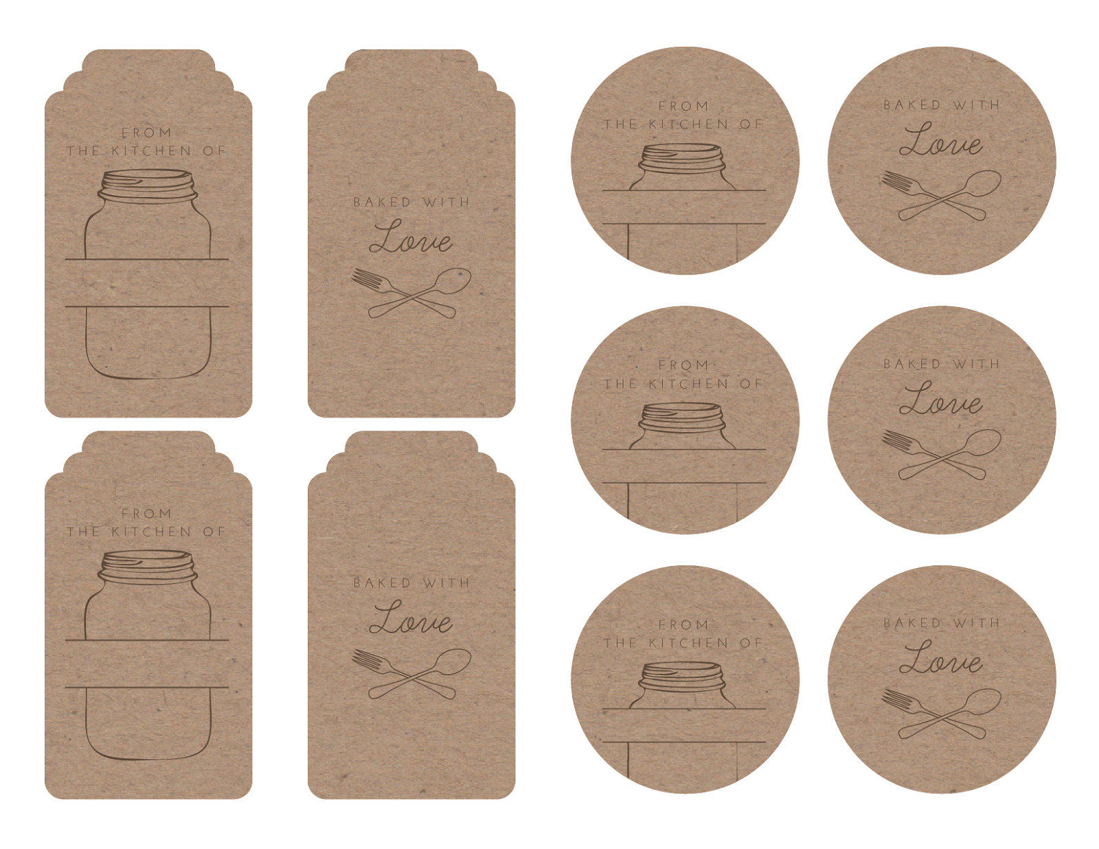 Homemade Tags For Your Baked Goods | Printables & Graphics | Bake - Free Printable Baking Labels
