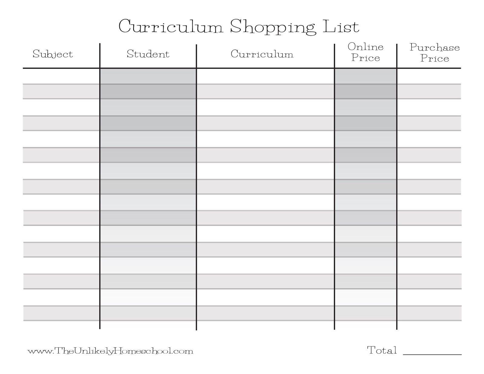 How I Plan My Homeschool Curriculum Shopping List {Printable} | Home - Free Printable Homeschool Curriculum