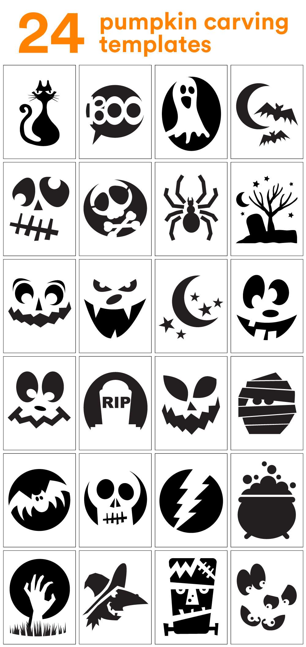 How To Carve The Coolest Pumpkin On The Block (Carving Stencils - Free Pumpkin Printable Carving Patterns