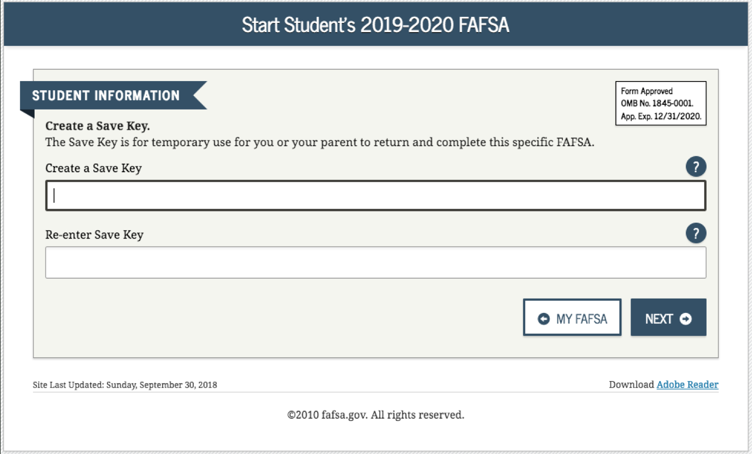 How To Complete The 2019-2020 Fafsa Application - Free Printable Fafsa Application Form