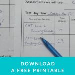 How To Complete Your Homeschool Testing Free From Stress   Free Printable Stress Test