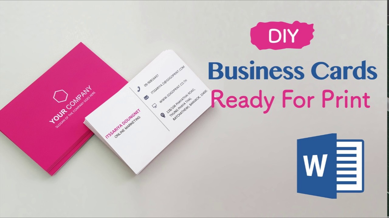 How To Create Your Business Cards In Word - Professional And Print - Free Online Business Card Templates Printable