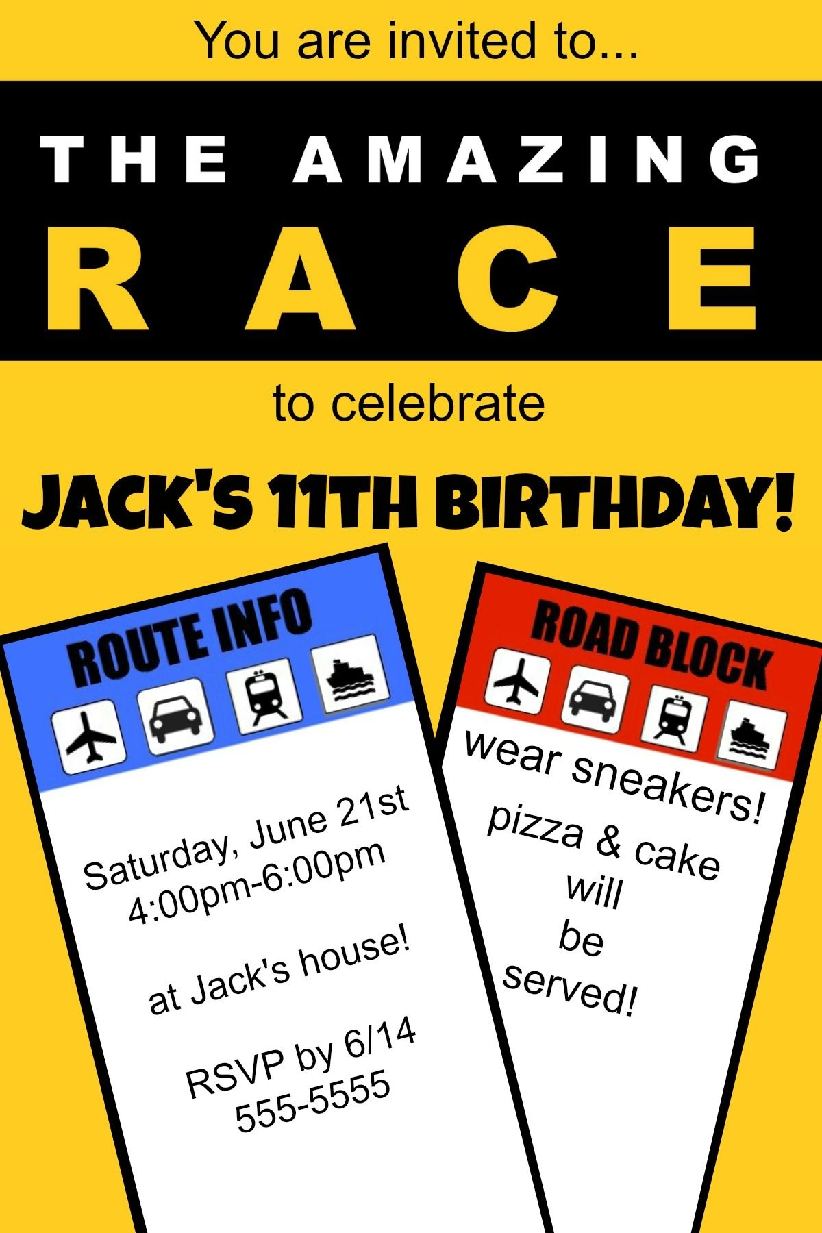 "How To Host An ""amazing Race"" Birthday Party At Home! 