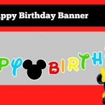 How To Make A Diy Mickey Mouse Clubhouse Inspired Happy Birthday   Free Printable Mickey Mouse Birthday Banner